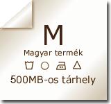 500 MB web tárhely